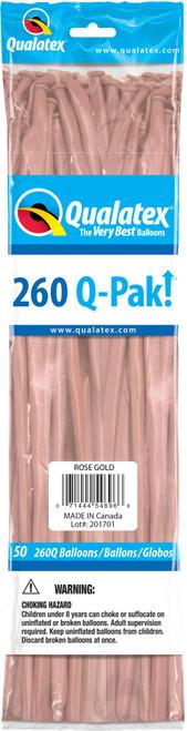 260Q Qualatex QPAK Rose Gold - 50 Ct.