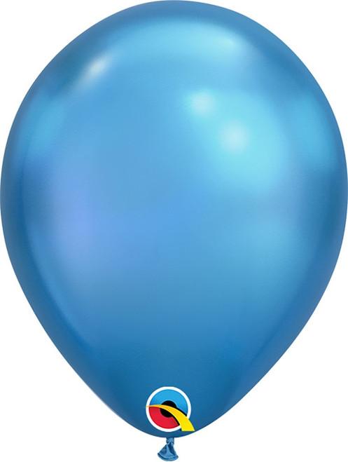 "11"" Qualatex Chrome Blue - 100 Ct."