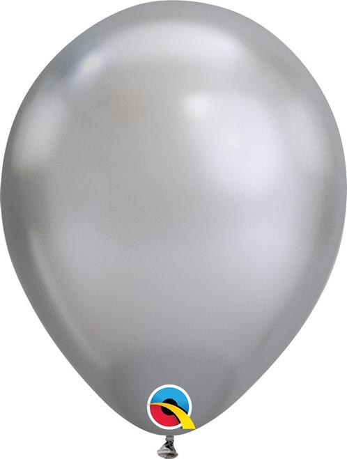 """11"""" Qualatex Chrome Silver - 100 Ct."""
