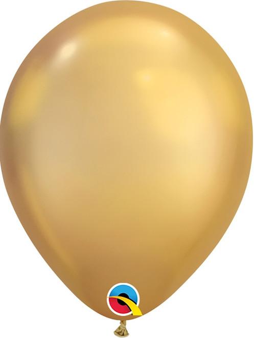 "11"" Qualatex Chrome Gold - 25 Ct."