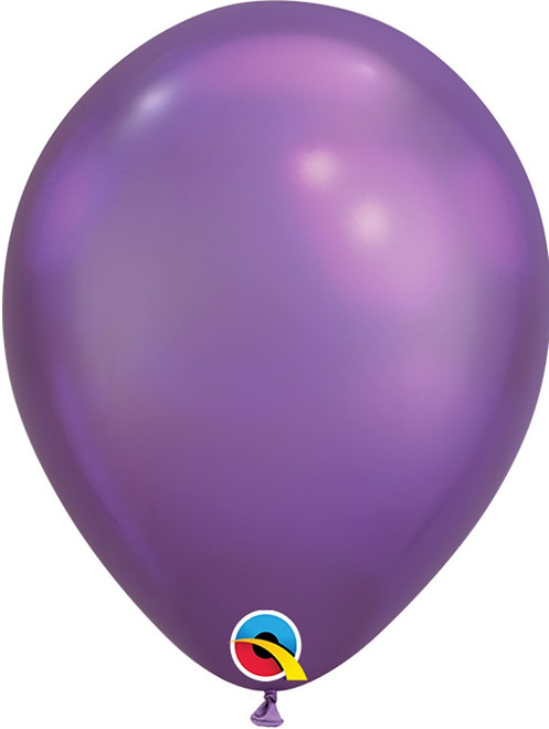 "7"" Qualatex Chrome Purple - 100 Ct."