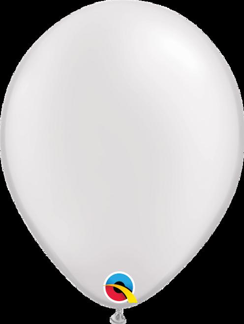 "11"" Qualatex Pearl White - 100 Ct."