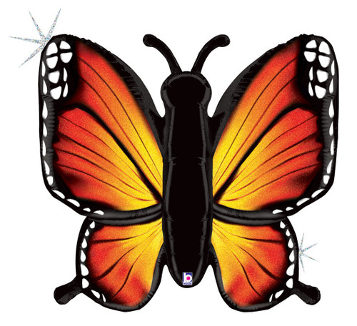 """46"""" Radiant Butterfly Holographic Orange"""