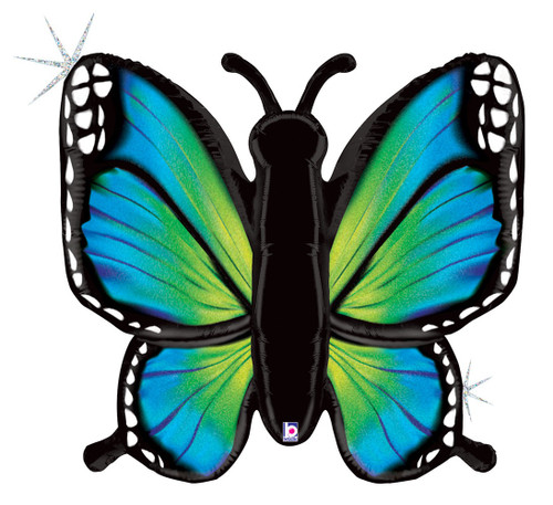 """46"""" Radiant Butterfly Holographic Blue"""