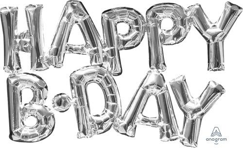 "30"" Happy Birthday Silver - AIR FILL"