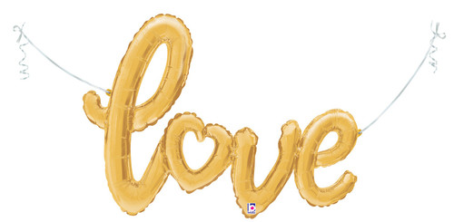 "47"" Love Script Gold - AIR FILL"