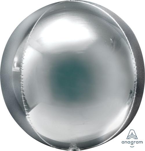 """21"""" Silver Orbz - 3 ct"""