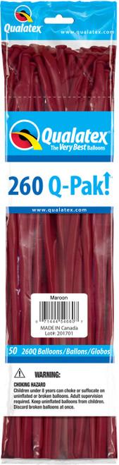 260Q Qualatex QPAK Maroon - 50 Ct.