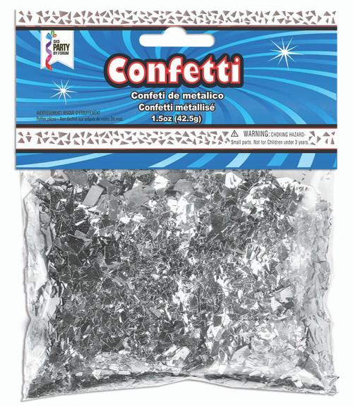 1.5 oz Silver Foil Confetti