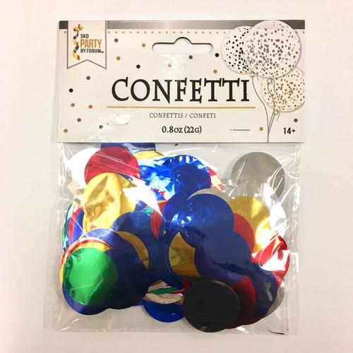 0.8 oz Metallic Multi-Color Confetti Dots
