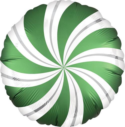 "18"" Satin Emerald Candy Swirl"