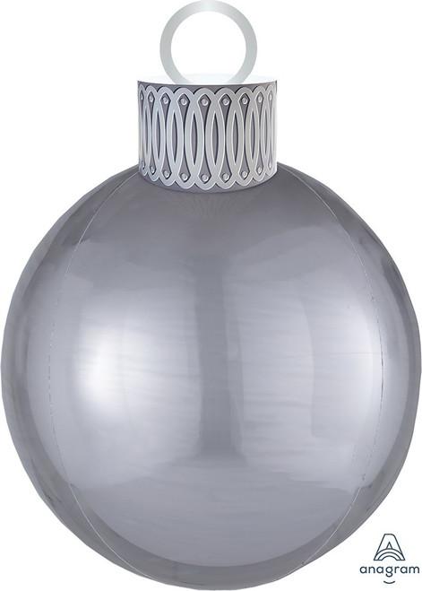 "20"" Ornament Kit Silver Orbz - AIR FILL"
