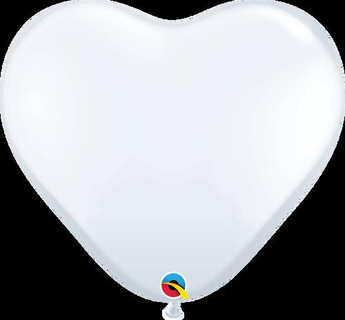 """36"""" Qualatex White Heart Latex 2 ct"""