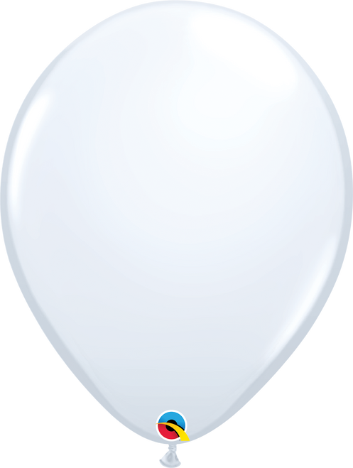 "16"" Qualatex White - 50 Ct."