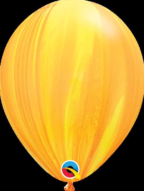 "11"" Qualatex Superagate Yellow Orange - 25 Ct."