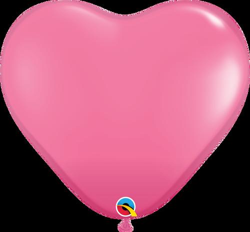 "36"" Qualatex Rose Heart Latex 2 ct"