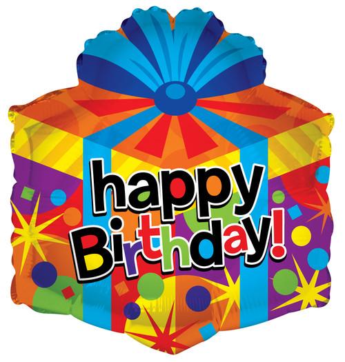 """18"""" Happy Birthday Gift Box Shape"""