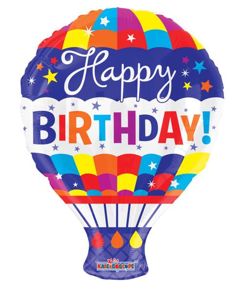"""18"""" Birthday Hot Air Balloon Gellibean"""