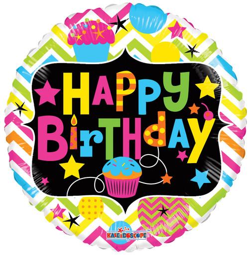 "18"" Neon Birthday with Cupcake Gellibean"
