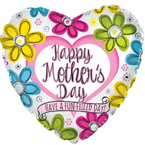 """18"""" Happy Mother's Day Ink Flowers"""