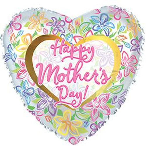 """18"""" Happy Mother's Day Graphic Floral"""