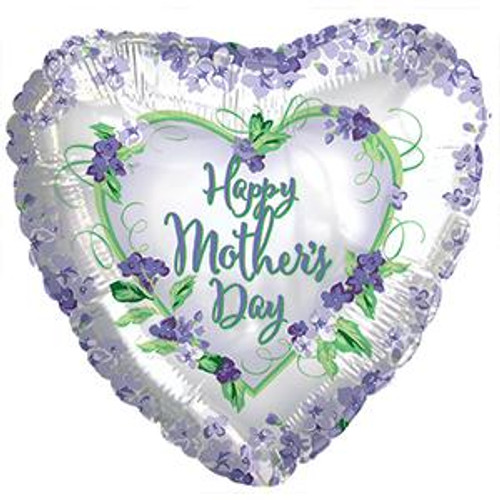 "18"" Happy Mother's Day Violets and Greens"