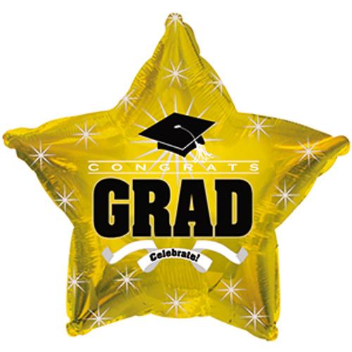 """17"""" Congrats Grad Gold"""