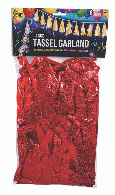 Large Balloon Tassel - Red Holographic