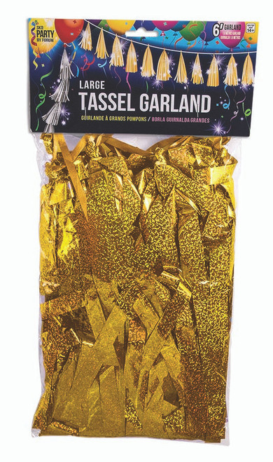 Large Balloon Tassel - Gold Holographic