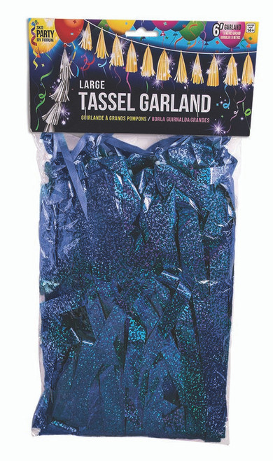 Large Balloon Tassel - Royal Blue Holographic