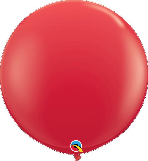"36"" Qualatex Red Latex Balloons 2 ct"