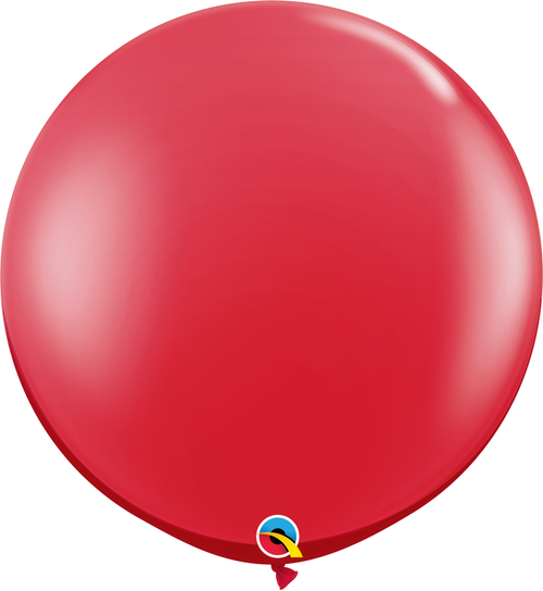 """36"""" Qualatex Ruby Red Latex Balloons 2 ct"""