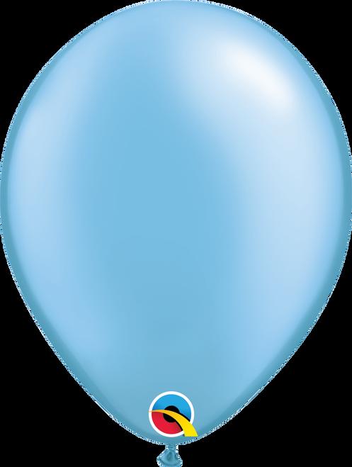 "11"" Qualatex Pearl Azure - 100 Ct."