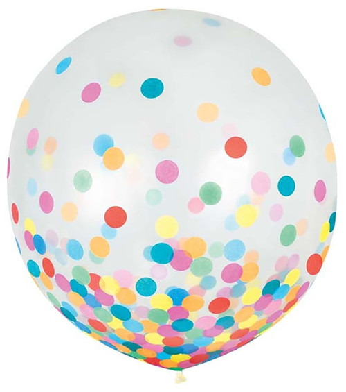 "24"" Multi-Color Confetti Latex 2 ct"