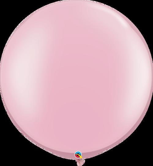 "30"" Qualatex Pearl Pink Latex Balloons 2 ct"