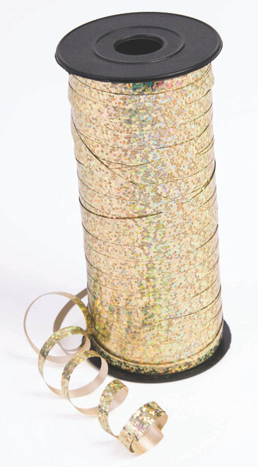 Holographic Gold Curling Ribbon