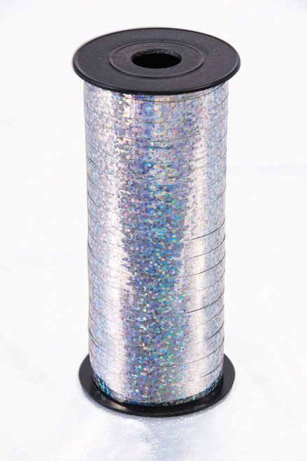 Holographic SIlver Curling Ribbon