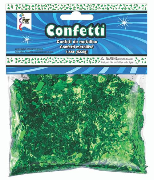 1.5 oz Green Foil Confetti