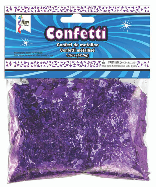 1.5 oz Purple Foil Confetti