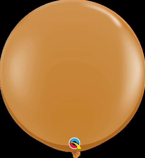 "36"" Mocha Brown Latex Balloons 2 ct"