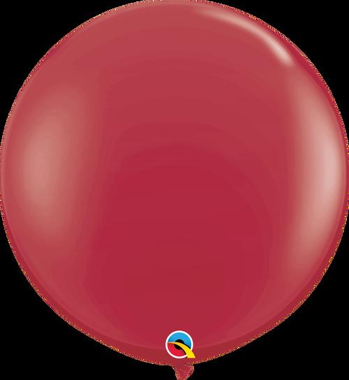 """36"""" Qualatex Maroon Latex Balloons 2 ct"""