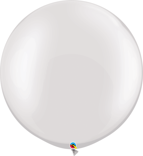 "30""Qualatex Pearl White Latex Balloons 2 ct"