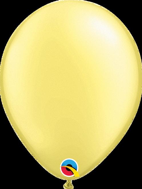 """11"""" Qualatex Pearl Lemon Chiffon - 100 Ct."""