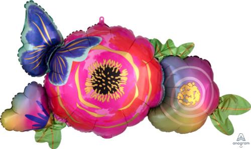 "37"" Satin Flowers & Butterfly"