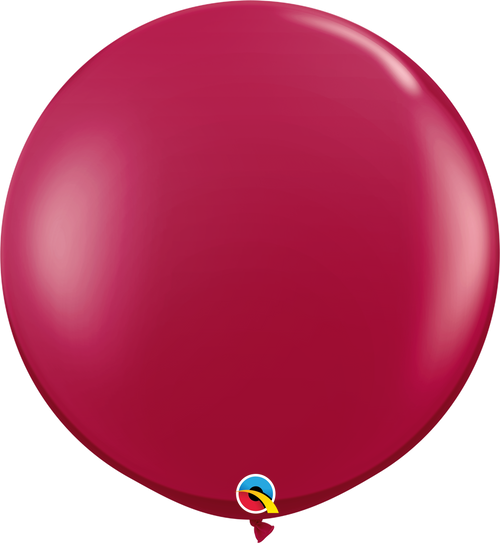 "36"" Qualatex Sparkling Burgundy Latex Balloons 2 ct"