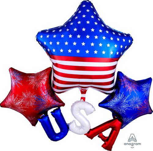 "51"" Floating USA Multi-Balloon"
