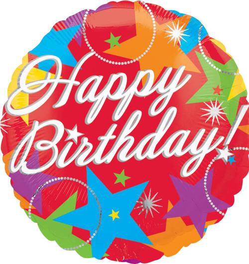 "18"" Bursting Birthday Stars"