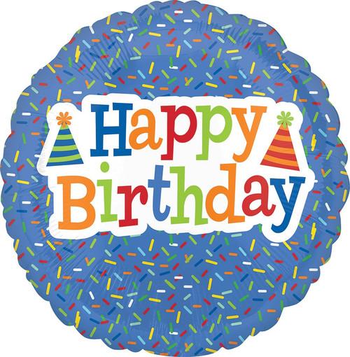"""18"""" Happy Birthday Bright Sprinkles"""