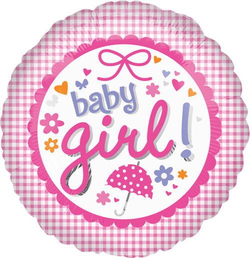 "18"" New Baby Girl Gingham"