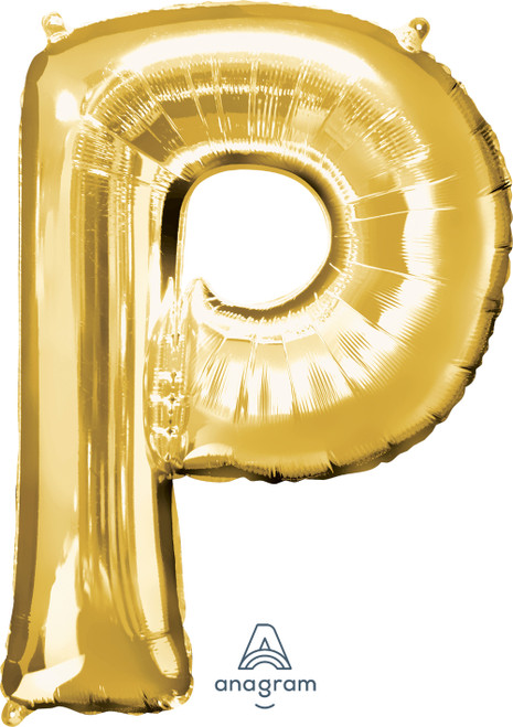 "34"" Gold Letter ""P"""
